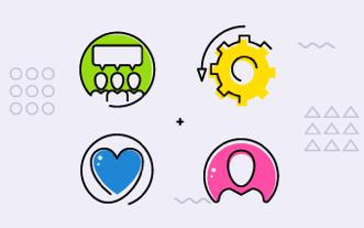 imagem-com-ícones-conversa-coração-usuário-configurações